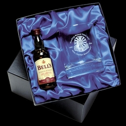 Whisky glass and miniature whisky set